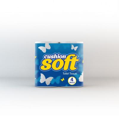 CUSHION SOFT T/T 2PLY 4 ROLL X 10 WHITE