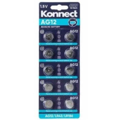 AG12 /  L1142 ALKALINE BUTTON CELL CARD OF 10