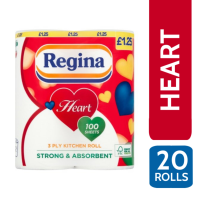 REGINA HEART WHITE 3PLY K/T 2 ROLL X 10 PM ?1
