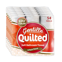 GENTILLE QUILTED TOILET ROLL 3PLY 9PK X 6