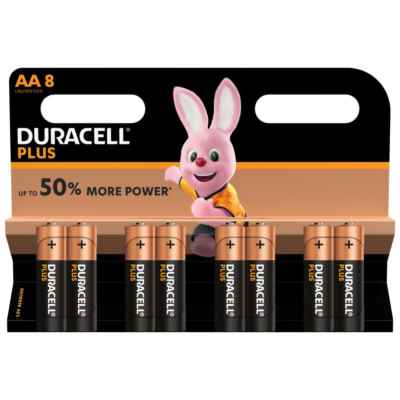 DURACELL AA - MN1500 PLUS 8 PACK