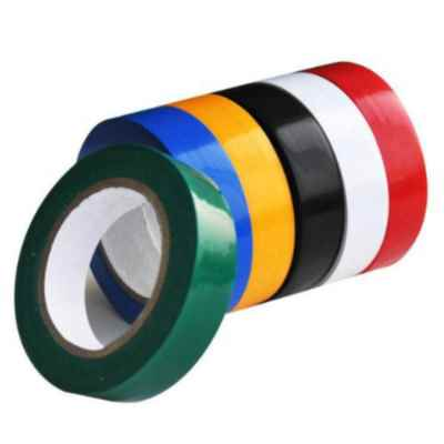 PVC TAPE MULTICOLOUR 19MM X 4.5M X 8