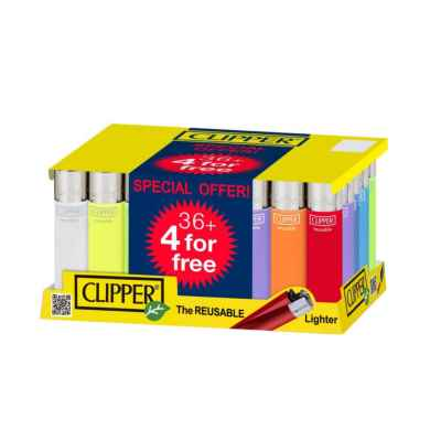 CLIPPER TRANSLUSANT LARGE LIGHTERS 36+4