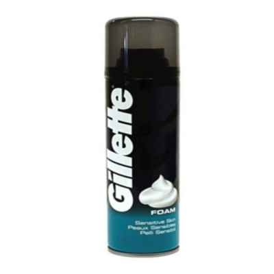 GILLETTE SHAVING FOAM SENSITIVE 200ML X 6