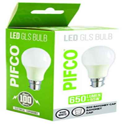 PIFCO LED GLS BULB 9W B22 / BC WARM WHITE