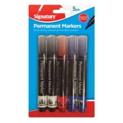 PERMANENT MARKERS 5PK