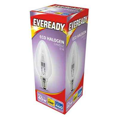 CANDLE E14/SES BULB 30W (40W)  ECO HALOGEN
