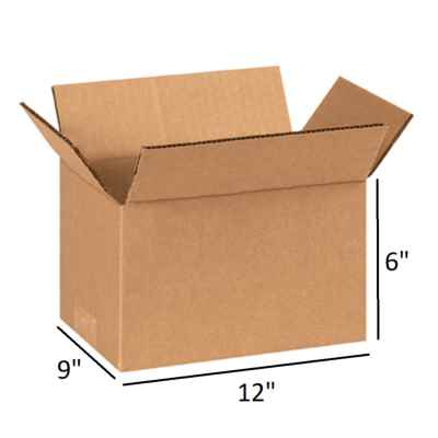 BROWN SMALL PARCEL BOX 12 X 9 X 6 INCH
