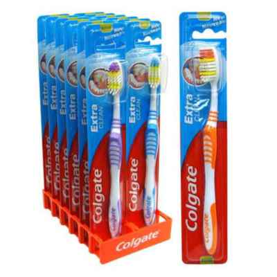 COLGATE EXTRA CLEAN TOOTHBRUSH MED 12S