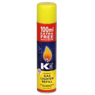 KTWO LIGHTER REFILL GAS 300ML X 12