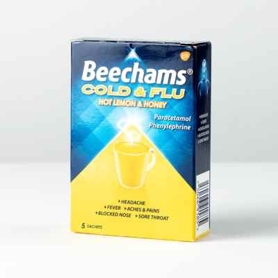 BEECHAM COLD & FLU HONEY LEMON 5S X  6