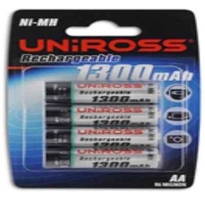UNIROSS AA 1300MAH 4 PACK