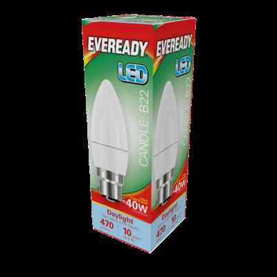 EVEREADY LED CANDLE 5.2W B22 DAYLIGHT