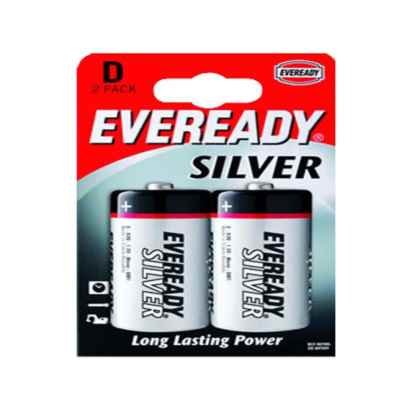 EVEREADY SILVER D - R20 2 PACK