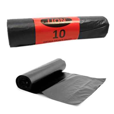 LION BLACK SACKS ON ROLLS 10S X 20 EXTRA HEAV