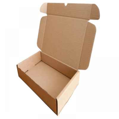 BROWN CARDBOARD BOX 18 X 14 X 6 INCH WITH EDC