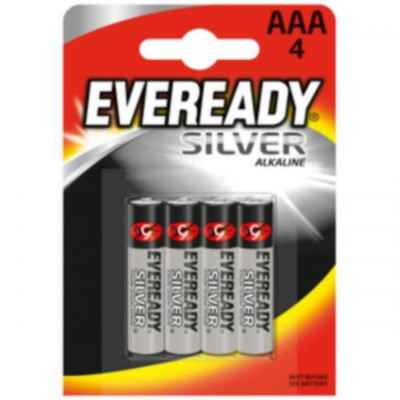 EVEREADY SILVER AAA - R03 4 PACK