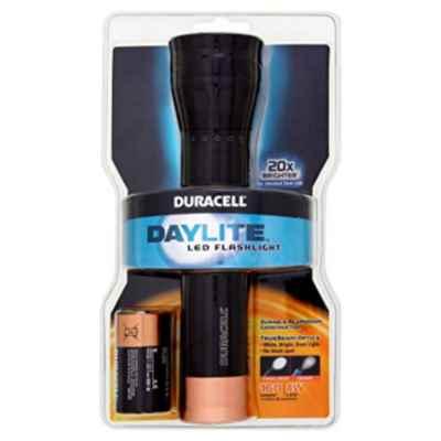 DURACELL DAYLITE 2 X D METAL TORCH BATT INCL