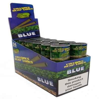 CYCLONE HEMP CONE BLUE 2S X 12