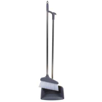 LONG HANDLE DUSTPAN WITH SWEEPING BRUSH