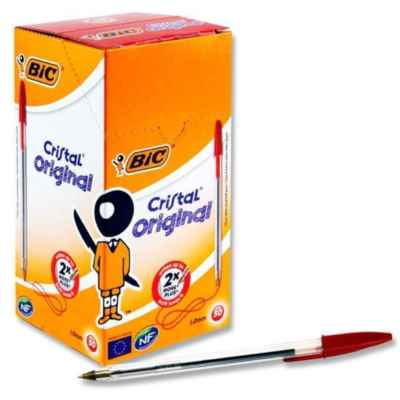 BIC CRYSTAL BALL PEN (RED) 50S