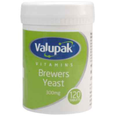 VALUPAK BREWERS YEAST 300MG TABLETS 120S X 6