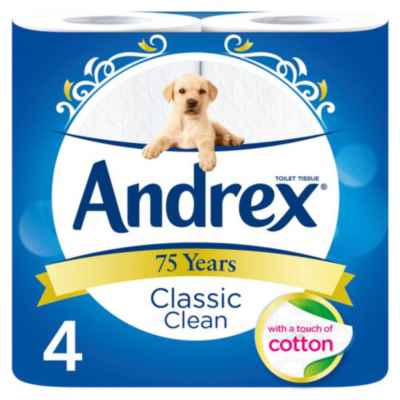 ANDREX TOILET TISSUE 4 ROLL X 10 WHITE PM?1.9