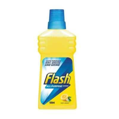 FLASH ALL PURPOSE LEMON LIQUID 500ML X 12