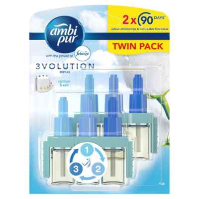 AMBI PUR 3VOL COTTON PLUG IN REFILL TWIN 20ML