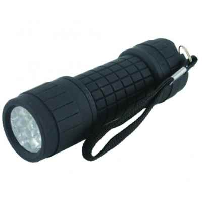 ALUMINIUM/RUBBER TORCH 9 LED