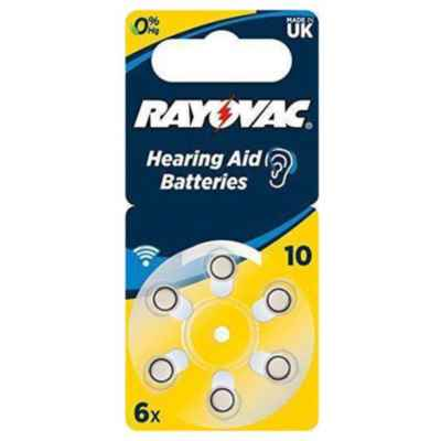 RAYOVAC HEARING AID SIZE 10 PACK OF 6