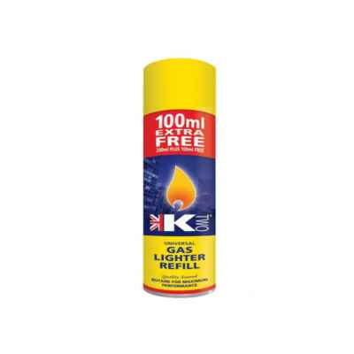 KTWO LIGHTER REFILL GAS 300ML X 12