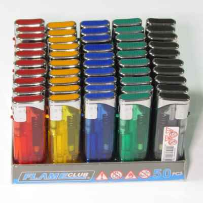 ELECTRONIC SLIM TRANS REFIL LIGHTERS 50S