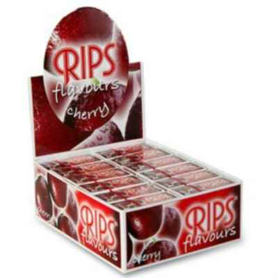 RIPS CHERRY FLAVOUR SLIM PAPER 24 ROLLS