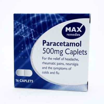 MAX PARACETAMOL 500MG TABLETS 16S X 10 EXP 09