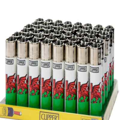 CLIPPER LARGE WALES FLAG DESIGN LIGHTER 40S
