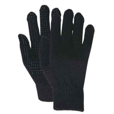GRIP MAGIC GLOVES BLACK ONE SIZE PACK OF 12