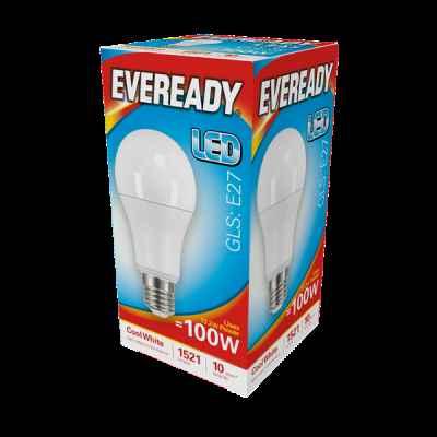 EVEREADY LED GLS 13.2W E27 COOL WHITE