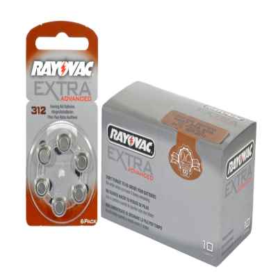 RAYOVAC HEARING AID 312 PACK OF 6