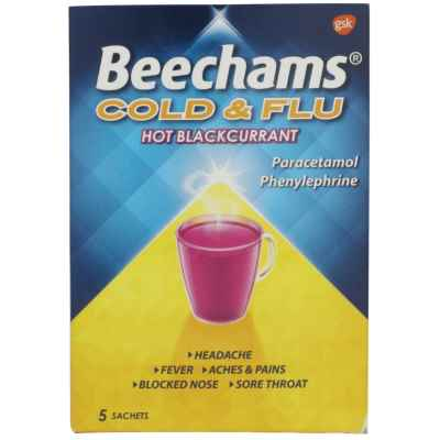 BEECHAM COLD & FLU BLACKCURRANT 5S X  6