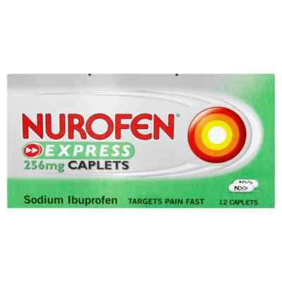 NUROFEN EXPRESS CAPLETS 256MG 12S X 12