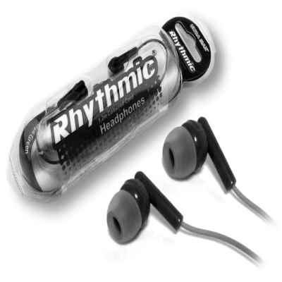RHYTHMIC HEADPHONES 1.2M CABLE BLACK