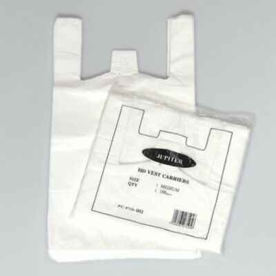 JUPITER MEDIUM HD WHITE CARRIER BAG 2K