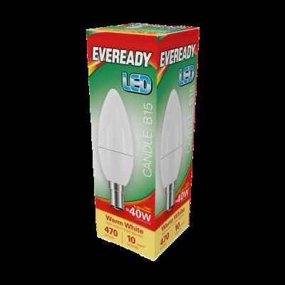 EVEREADY LED CANDLE 5.2W B15 WARM WHITE