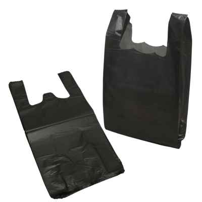 HOLLY LARGE HD BLACK HDPE CARRIER BAGS APPROX