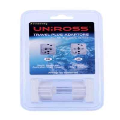 UNIROSS WORLDWIDE TRAVEL ADAPTOR 2 PACK