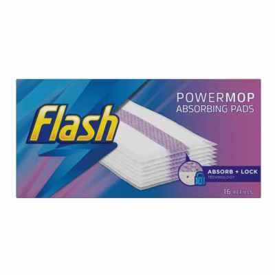FLASH POWERMOP REFILL PADS 16S X 4