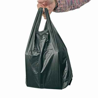 4STAR LARGE MD BLACK CARRIER BAGS 1000S