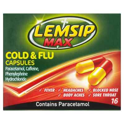 LEMSIP COLD & FLU CAPS 16S X 6