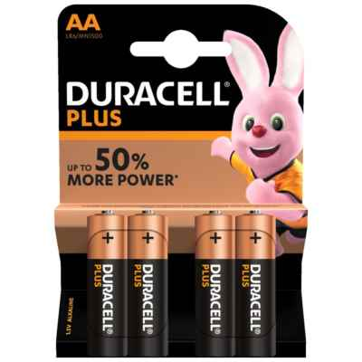 DURACELL AA - MN1500 PLUS 4 PACK